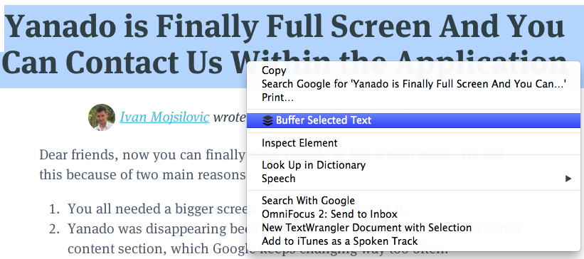 Buffer browser plugin