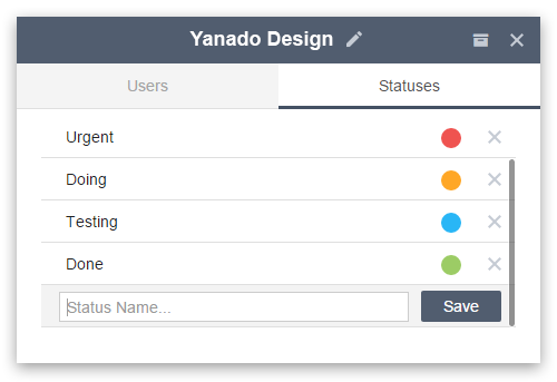 edit custom status yanado