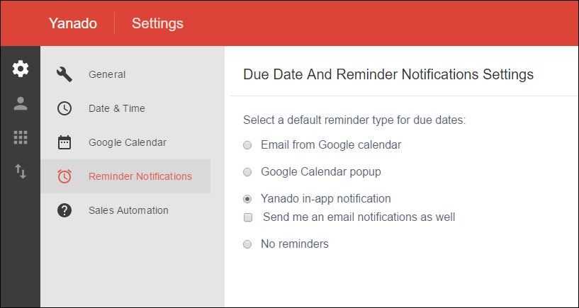 Reminder Settings