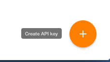 create API key button on Yanado